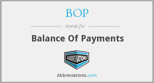 BOP - Balance Of Payments