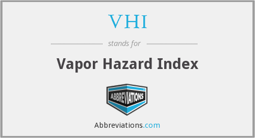 VHI - Vapor Hazard Index