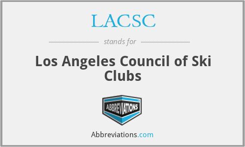 LACSC - Los Angeles Council of Ski Clubs