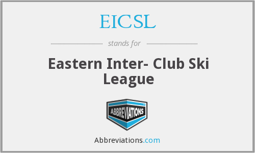 EICSL - Eastern Inter- Club Ski League