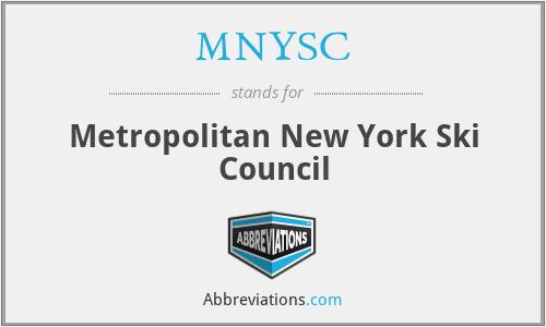 MNYSC - Metropolitan New York Ski Council