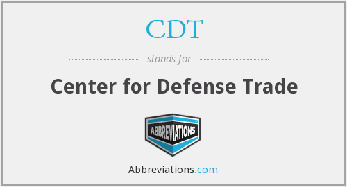 CDT - Center for Defense Trade