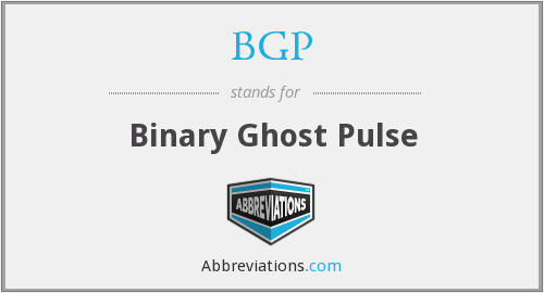 BGP - Binary Ghost Pulse
