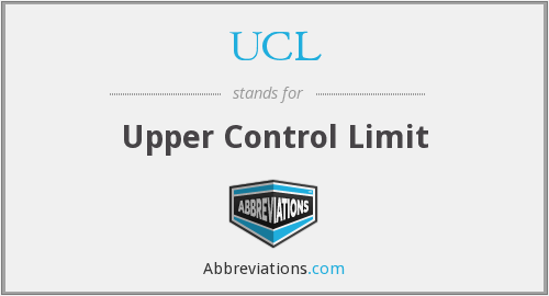 UCL - Upper Control Limit