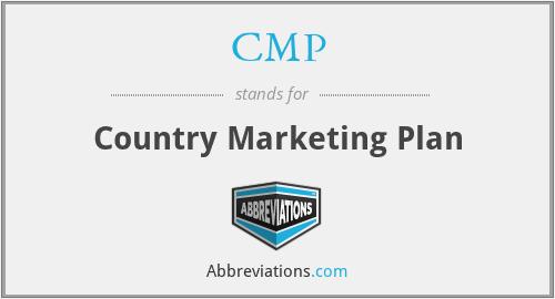 CMP - Country Marketing Plan