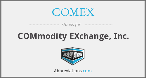 What does COMEX stand for?