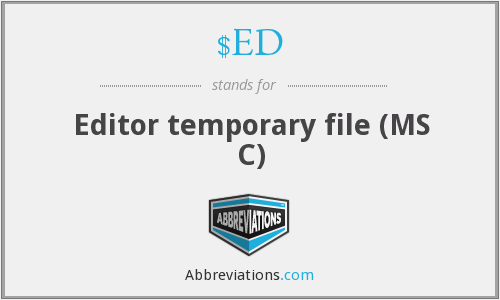 $ED - Editor temporary file (MS C)