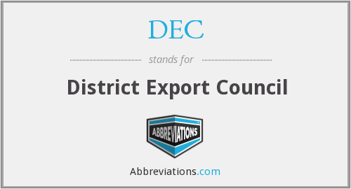 DEC - District Export Council