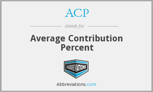 ACP - Average Contribution Percent