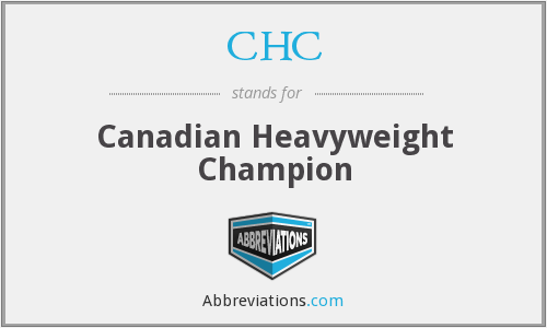 CHC - Canadian Heavyweight Champion