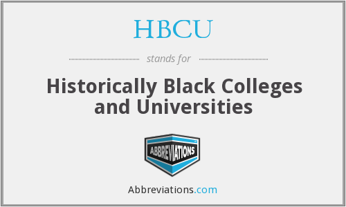 What does HBCU stand for?