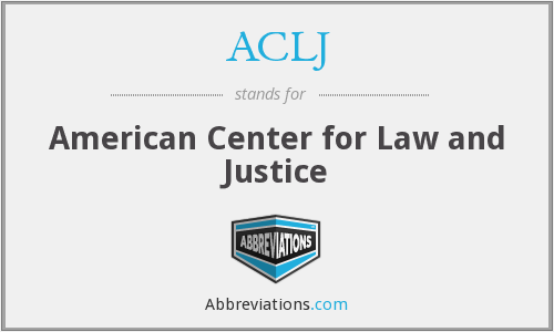 What does ACLJ stand for?