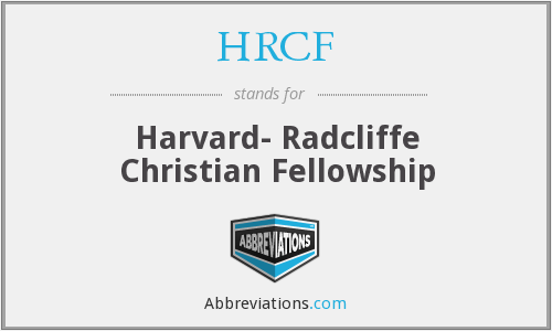 HRCF - Harvard- Radcliffe Christian Fellowship
