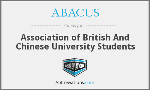 ABACUS - Association of British And Chinese University Students