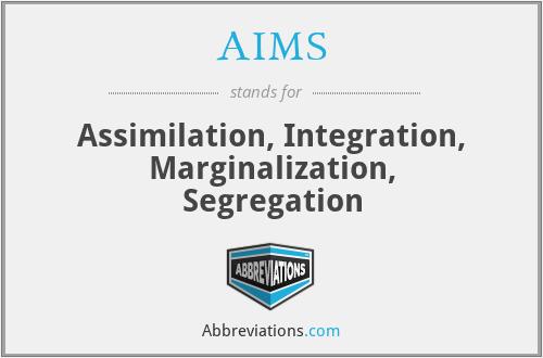 AIMS - Assimilation, Integration, Marginalization, Segregation