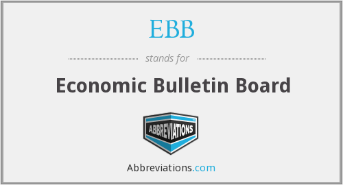 EBB - Economic Bulletin Board