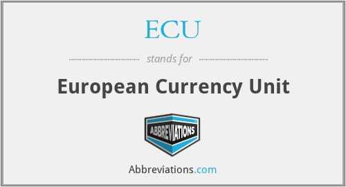 ECU - European Currency Unit