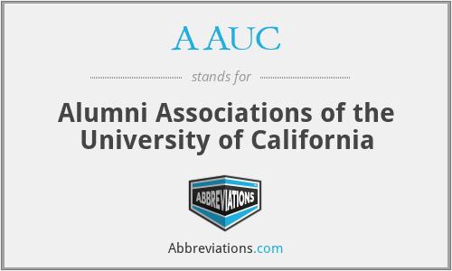 AAUC - Alumni Associations of the University of California