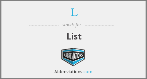 What does a-list stand for?