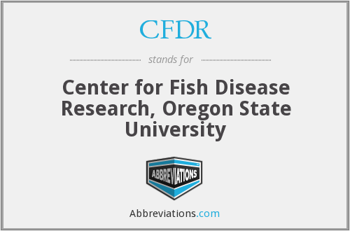 CFDR - Center for Fish Disease Research, Oregon State University