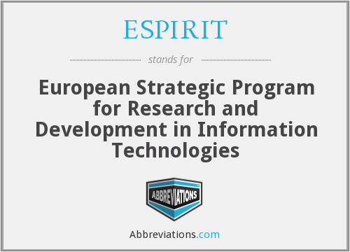 What does ESPIRIT stand for?