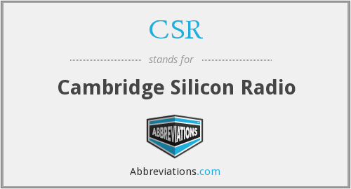 CSR - Cambridge Silicon Radio