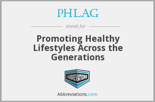 PHLAG - Promoting Healthy Lifestyles Across the Generations