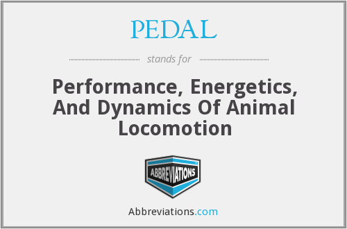 PEDAL - Performance, Energetics, And Dynamics Of Animal Locomotion