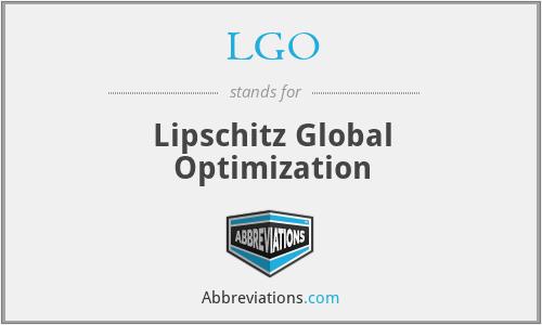 LGO - Lipschitz Global Optimization