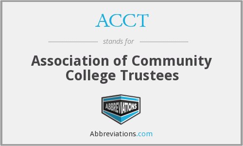 ACCT - Association of Community College Trustees