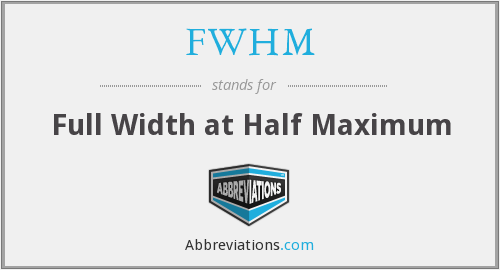 What does FWHM stand for?