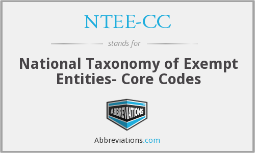 What does NTEE-CC stand for?