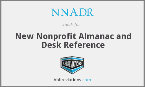 What does NNADR stand for?
