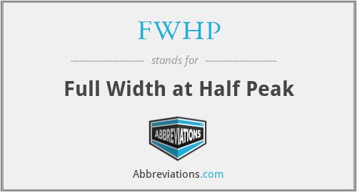 FWHP - Full Width at Half Peak