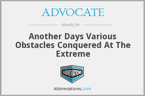 What does ADVOCATE stand for?