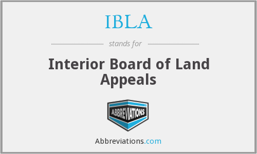 IBLA - Interior Board of Land Appeals