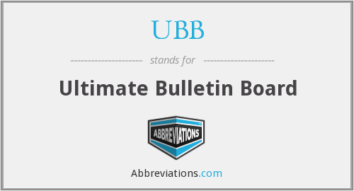 UBB - Ultimate Bulletin Board