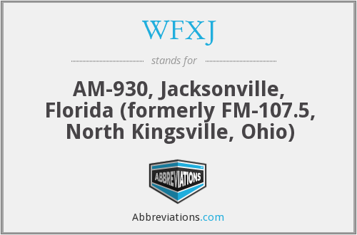 What does WFXJ stand for?