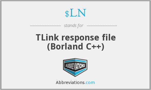 What does $LN stand for?
