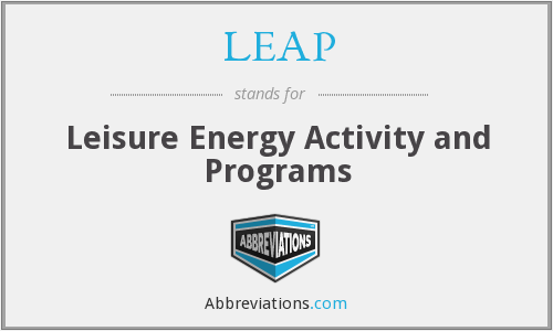 LEAP - Leisure Energy Activity and Programs