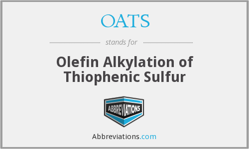 OATS - Olefin Alkylation of Thiophenic Sulfur