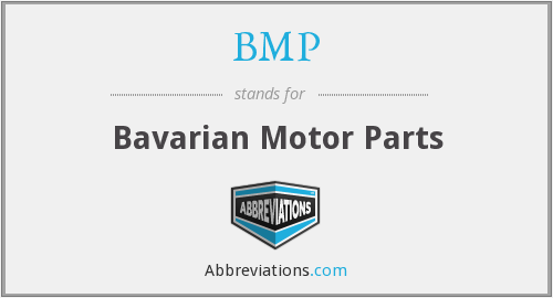 BMP - Bavarian Motor Parts