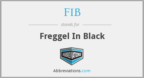 FIB - Freggel In Black