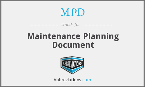 MPD - Maintenance Planning Document