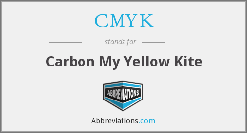 CMYK - Carbon My Yellow Kite