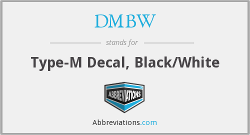 DMBW - Type-M Decal, Black/White