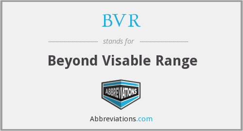 BVR - Beyond Visable Range