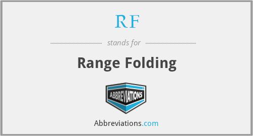 RF - Range Folding