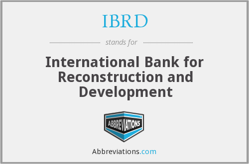 What does IBRD stand for?