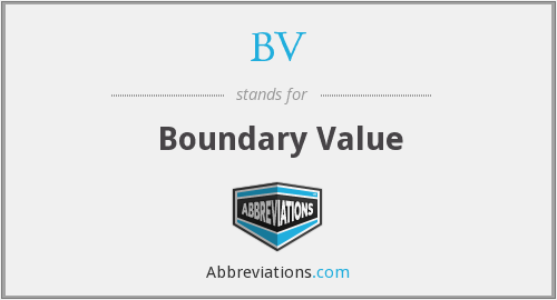 BV - Boundary Value